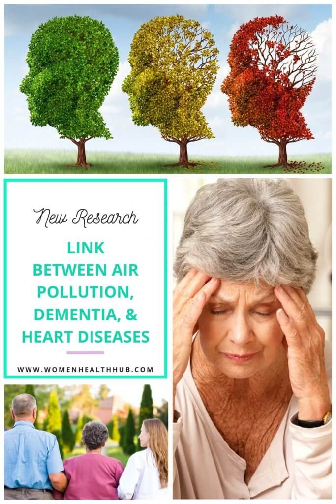 A new study confirms high incidence of dementia cases in women who live in polluted areas and have suffered heart diseases.