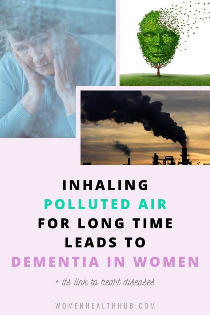 Elderly women with a history of heart diseases who reside in polluted areas are at high risk of developing dementia some time in their life, says new research.