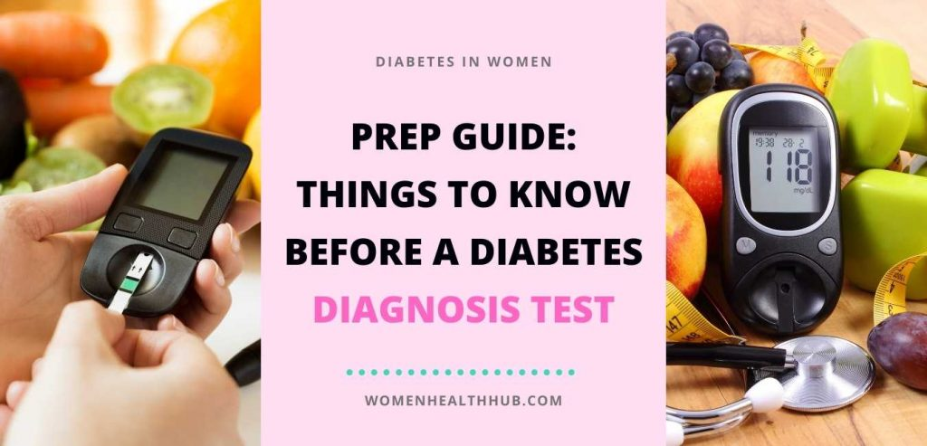 How is diabetes diagnosed in women?
